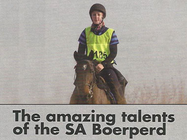 The Amazing Talents of the SA Boerperd